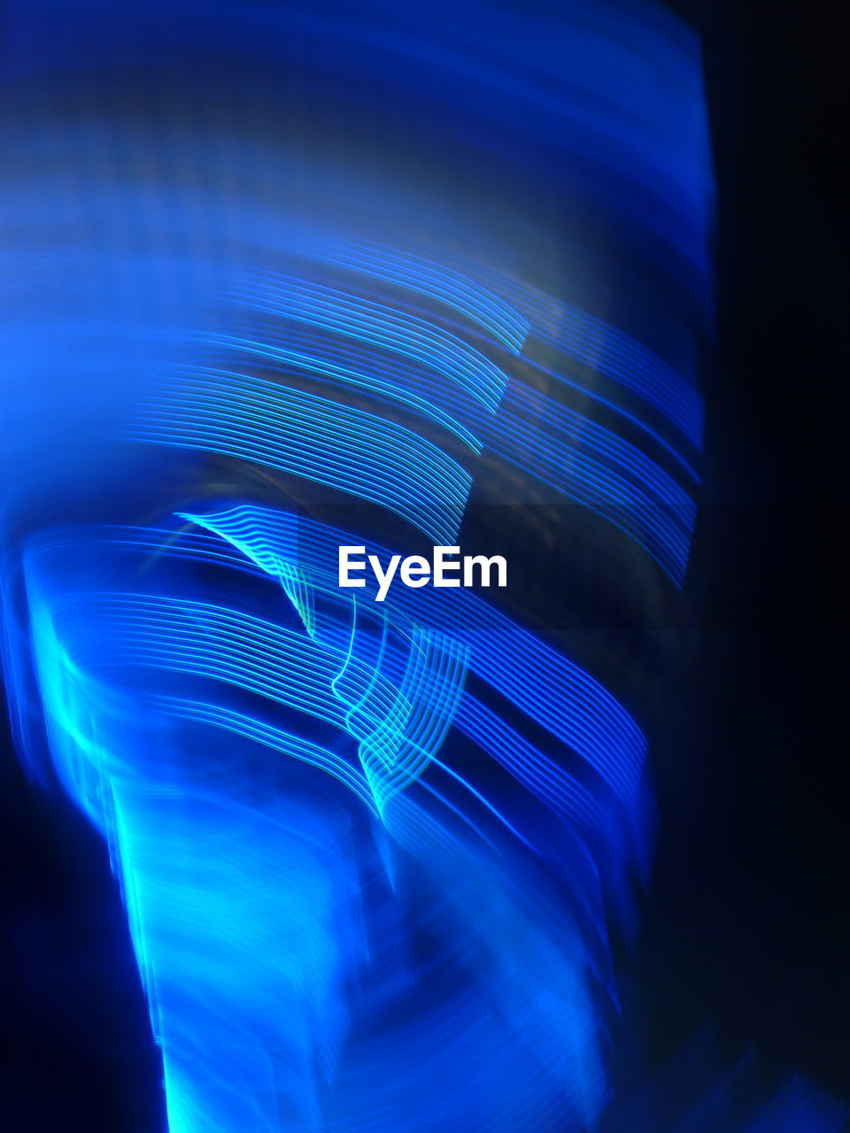 blue, illuminated, pattern, light trail, abstract, no people, studio shot, motion, close-up, night, multi colored, indoors