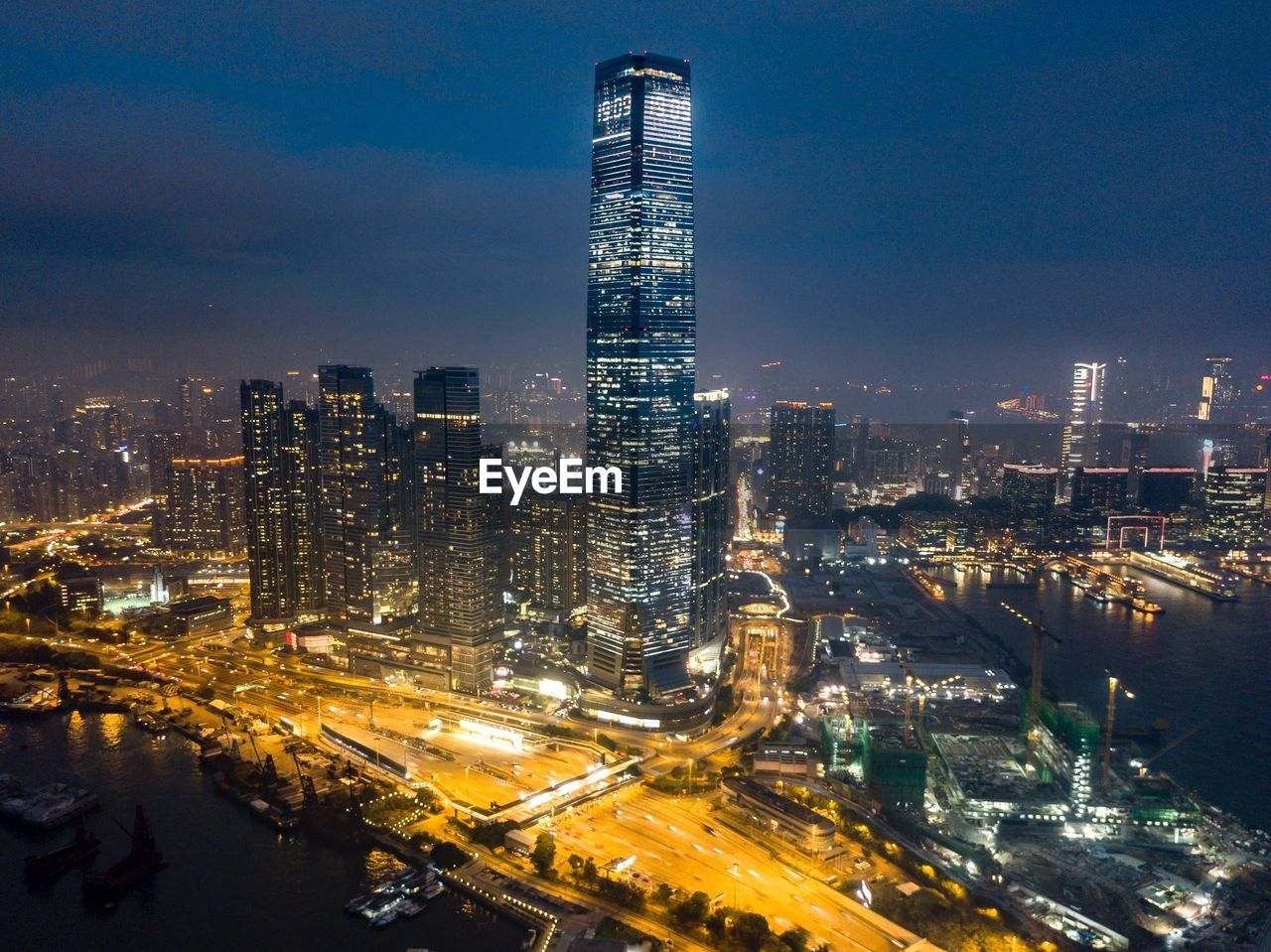 building exterior, architecture, city, built structure, cityscape, sky, illuminated, building, office building exterior, night, skyscraper, tall - high, tower, modern, urban skyline, no people, office, nature, travel destinations, outdoors, financial district