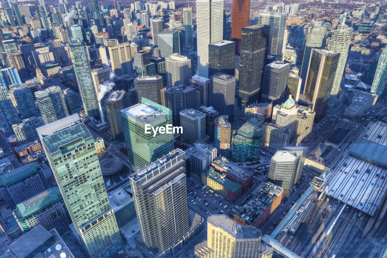Aerial View Of Buildings In City