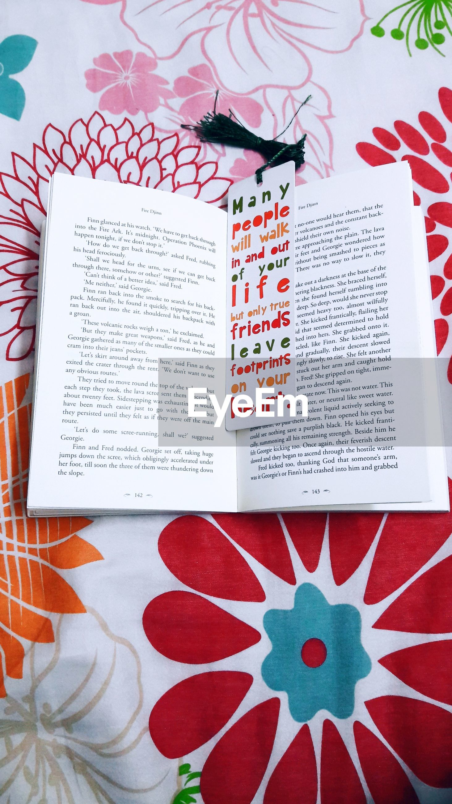 paper, text, high angle view, communication, table, indoors, book, page, red, no people, close-up, day