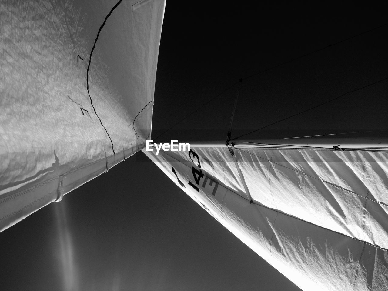 Low Angle View Of Boat Canvas Against Sky