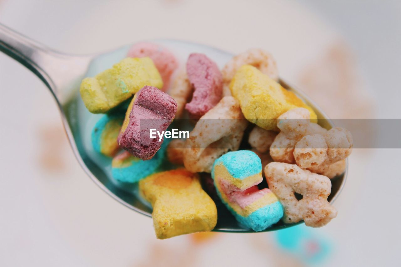 Close-Up Of Breakfast Cereals