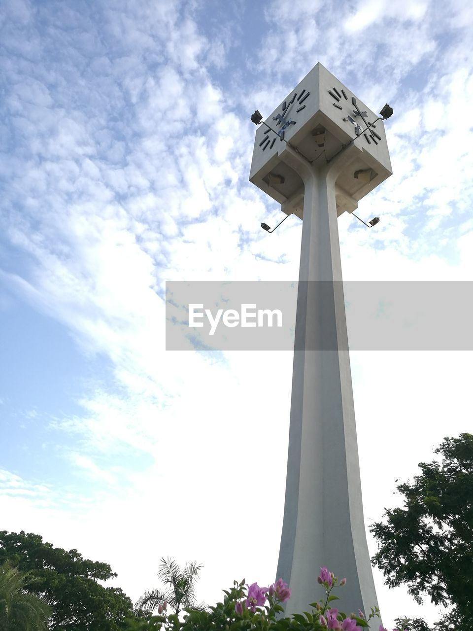 low angle view, sky, cloud - sky, day, tree, architecture, no people, built structure, outdoors, architectural column, nature
