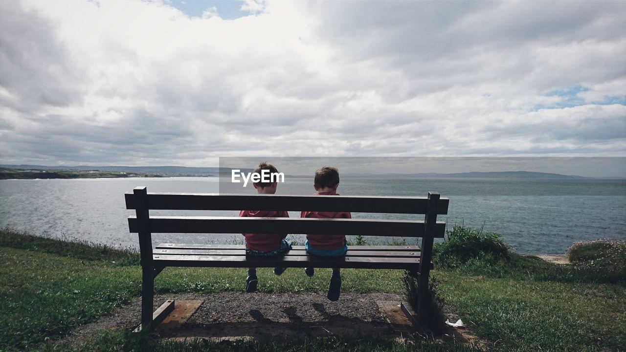Two Children On Seashore