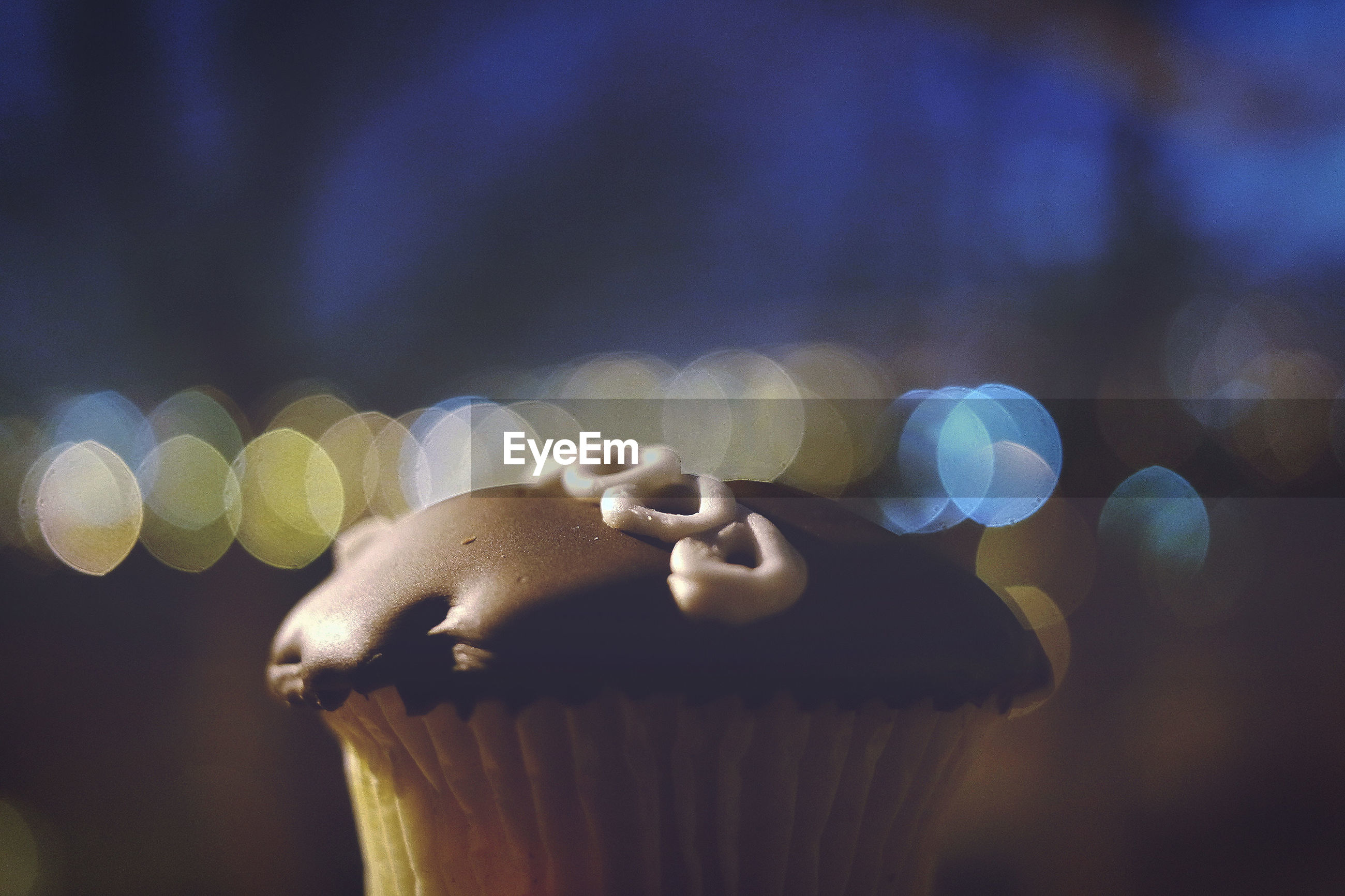 Close-up of cup cake against blurred background