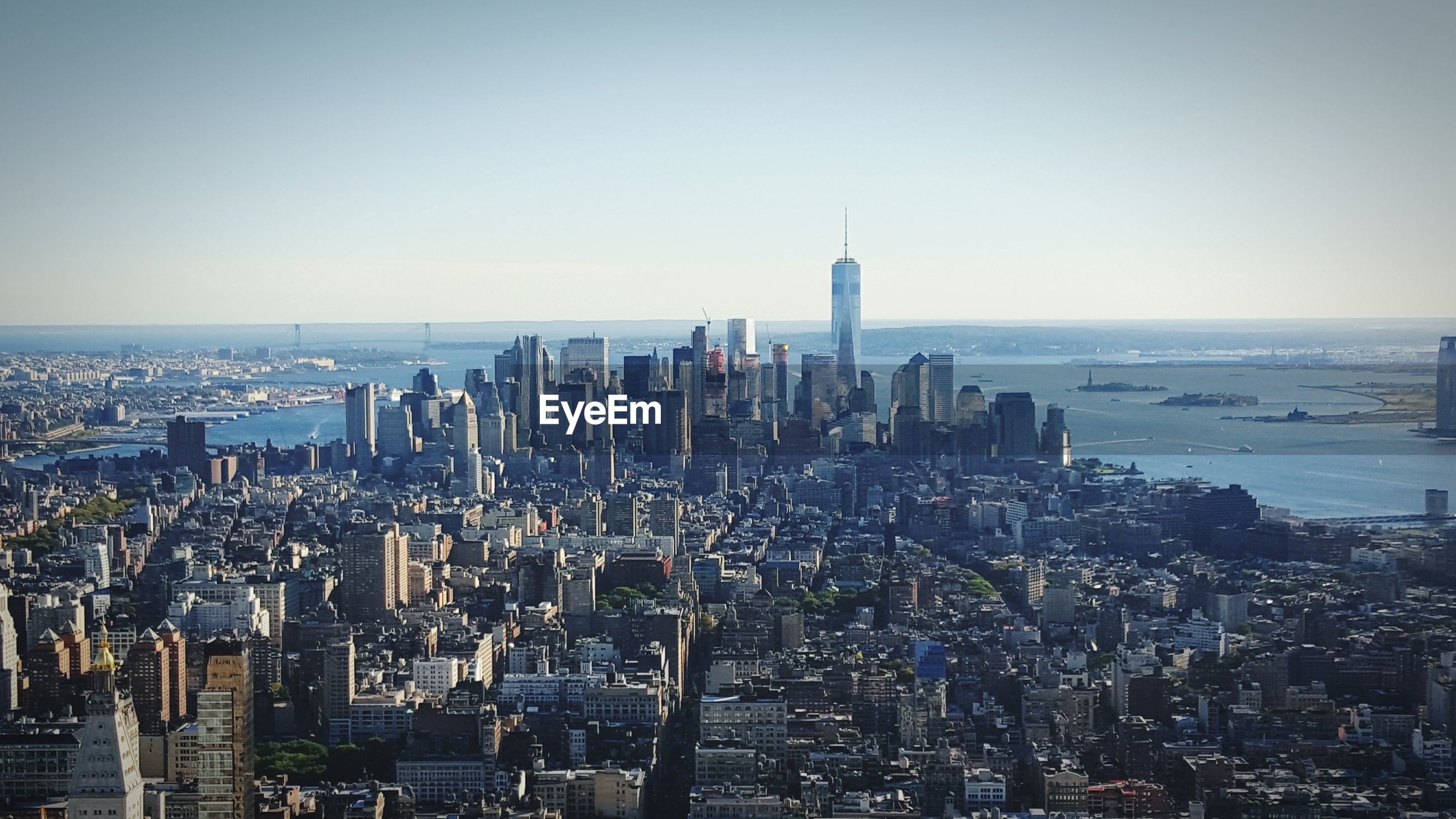Manhattan cityscape against sky