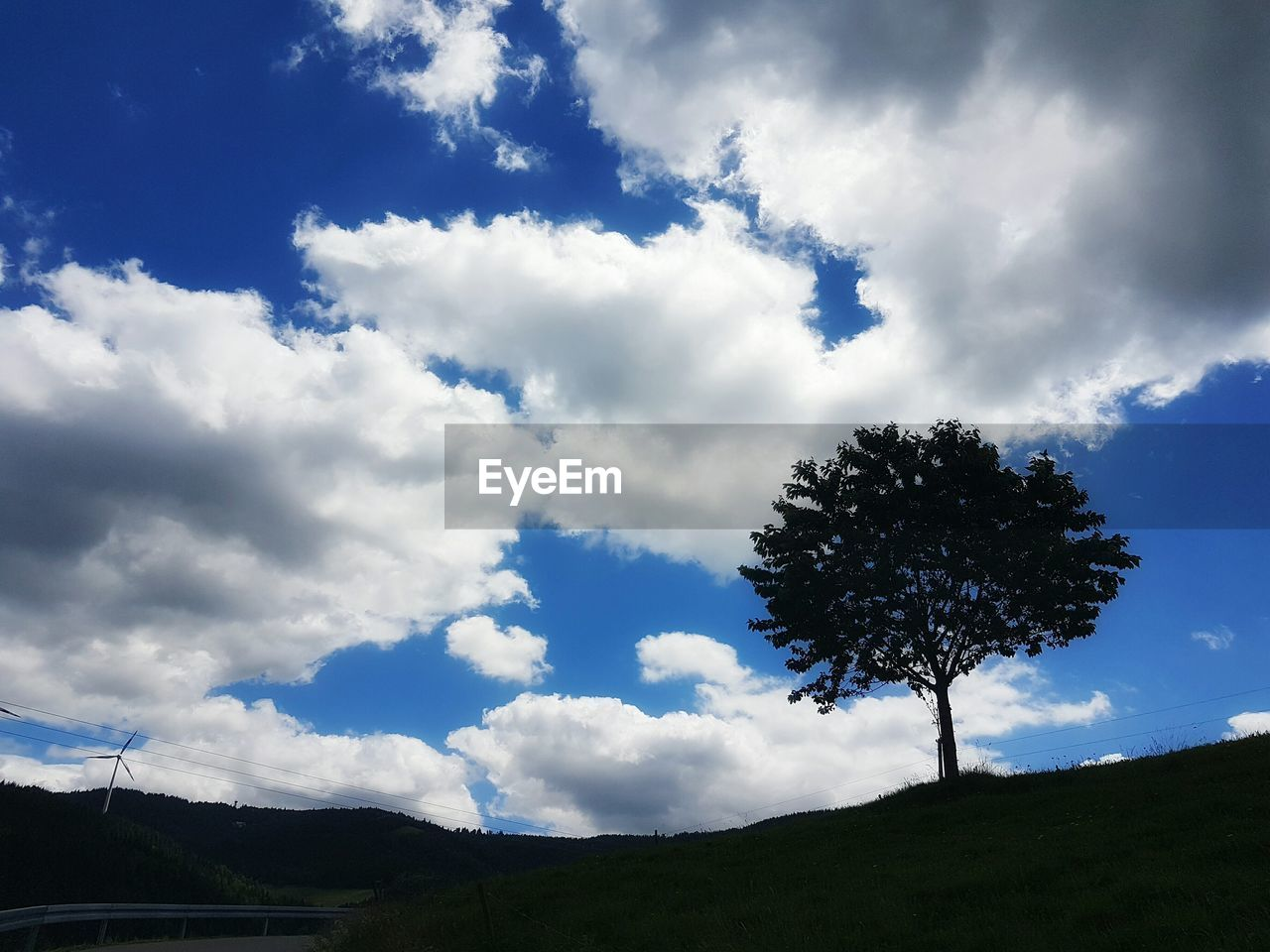 sky, cloud - sky, nature, beauty in nature, tree, scenics, tranquil scene, tranquility, day, no people, outdoors, low angle view, landscape, blue