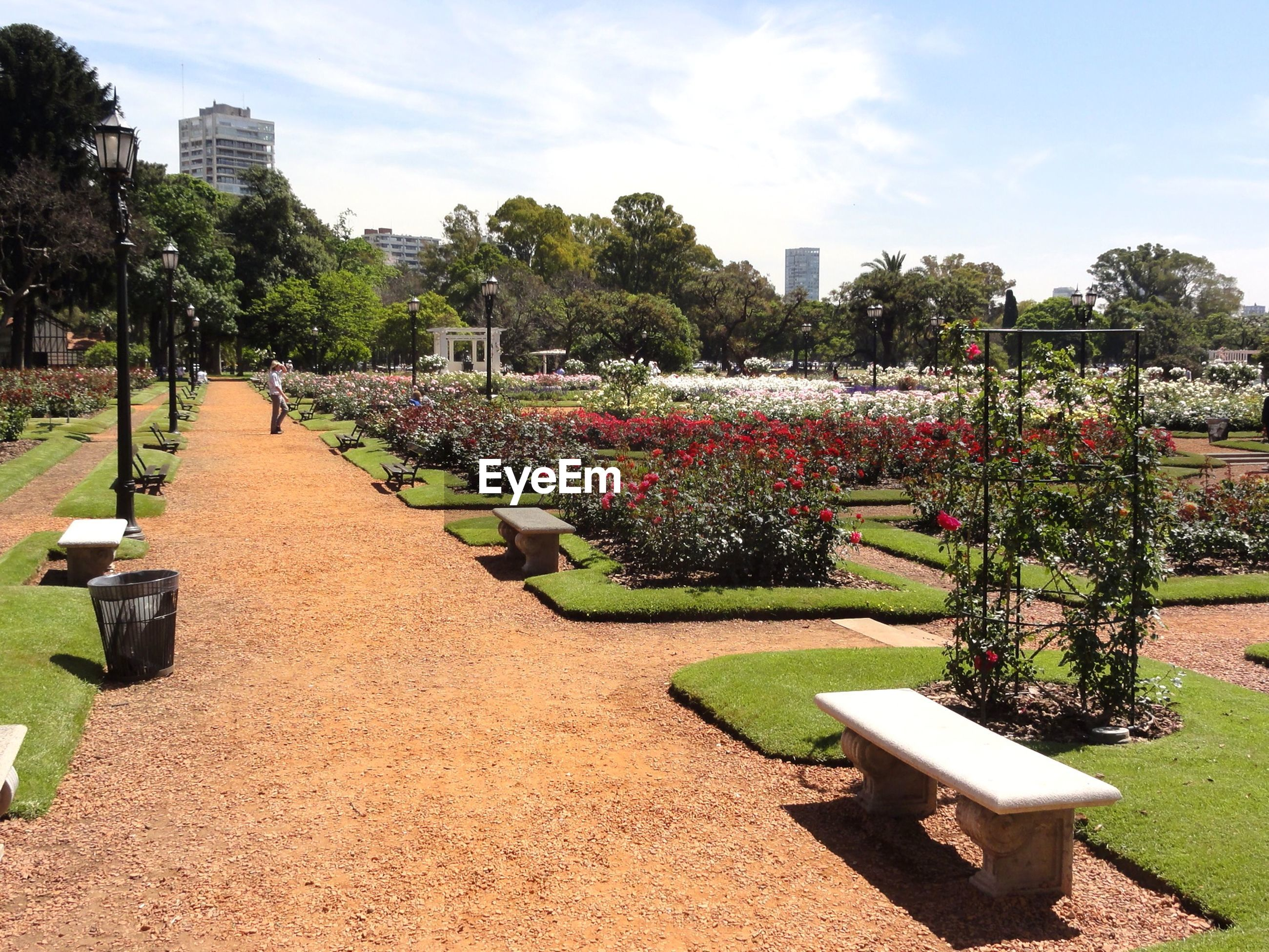 Ornamental garden against sky