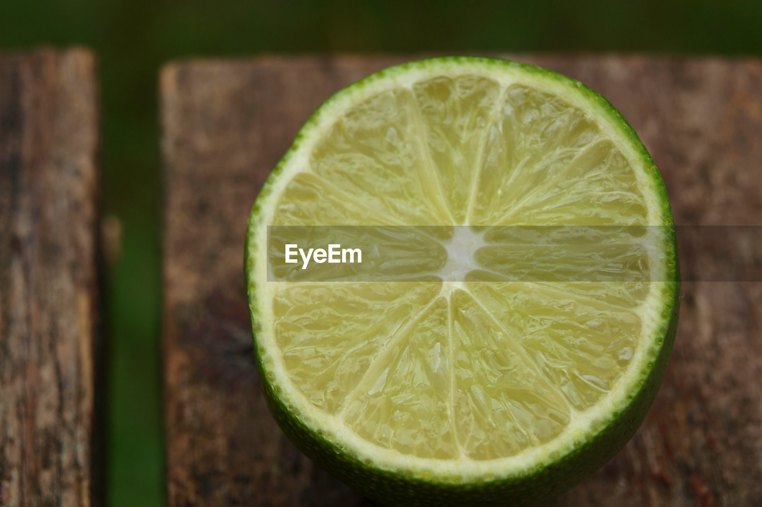 Close-up of lime slice