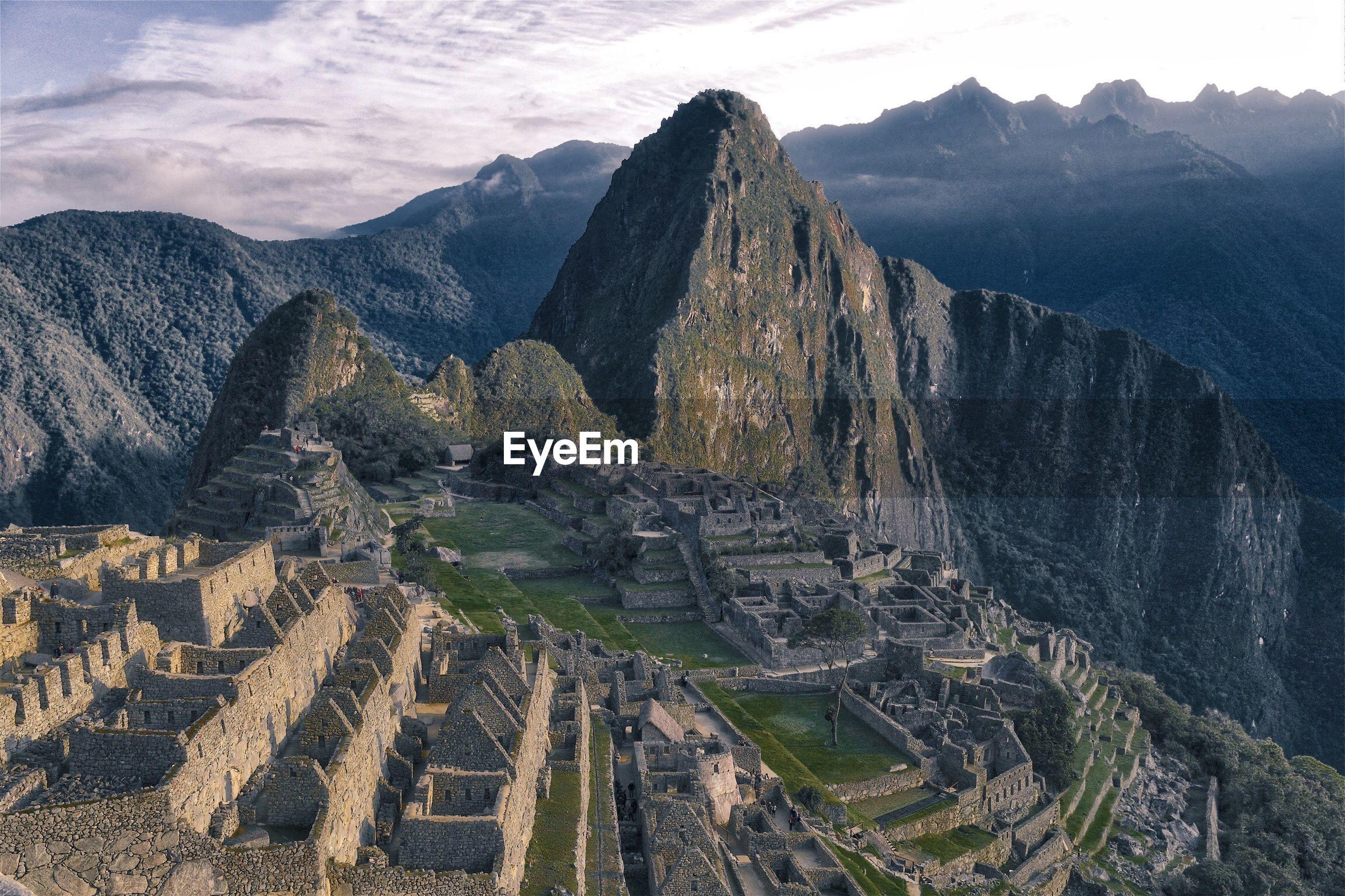 Scenic view of machu picchu