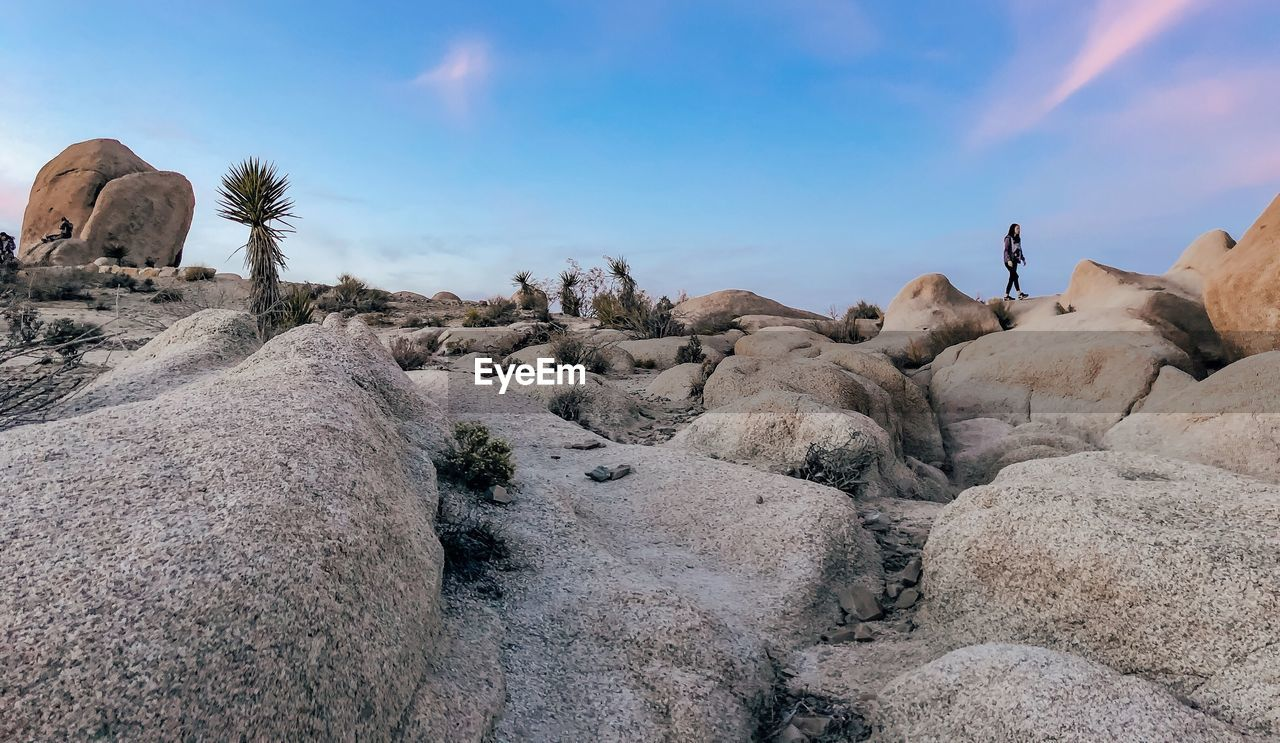 VIEW OF ROCK FORMATIONS IN THE SKY