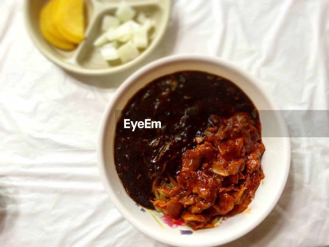 food and drink, food, bowl, ready-to-eat, freshness, healthy eating, still life, serving size, indoors, table, no people, wellbeing, high angle view, close-up, directly above, meal, vegetable, focus on foreground, indulgence, rice - food staple, temptation, crockery