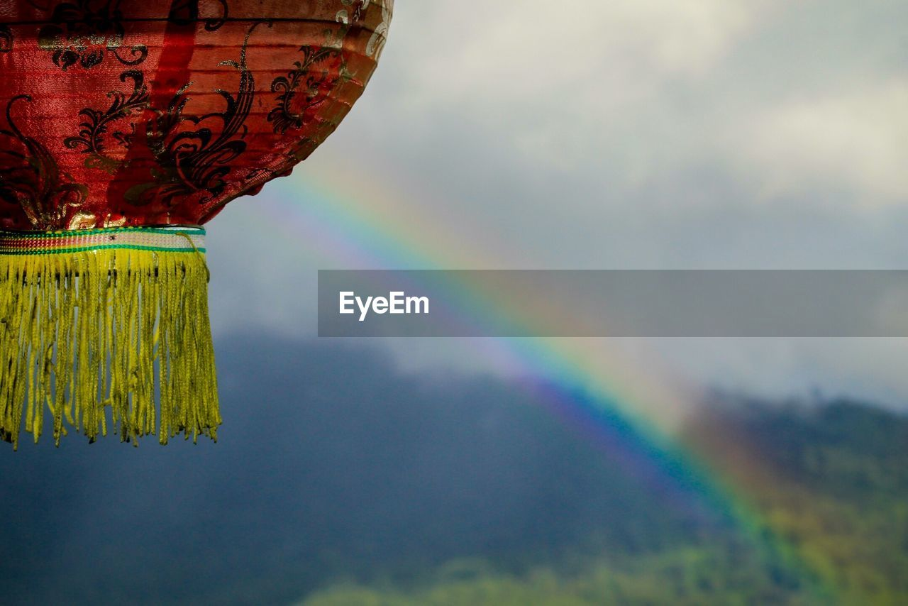 multi colored, sky, no people, rainbow, outdoors, red, day, beauty in nature, nature, close-up