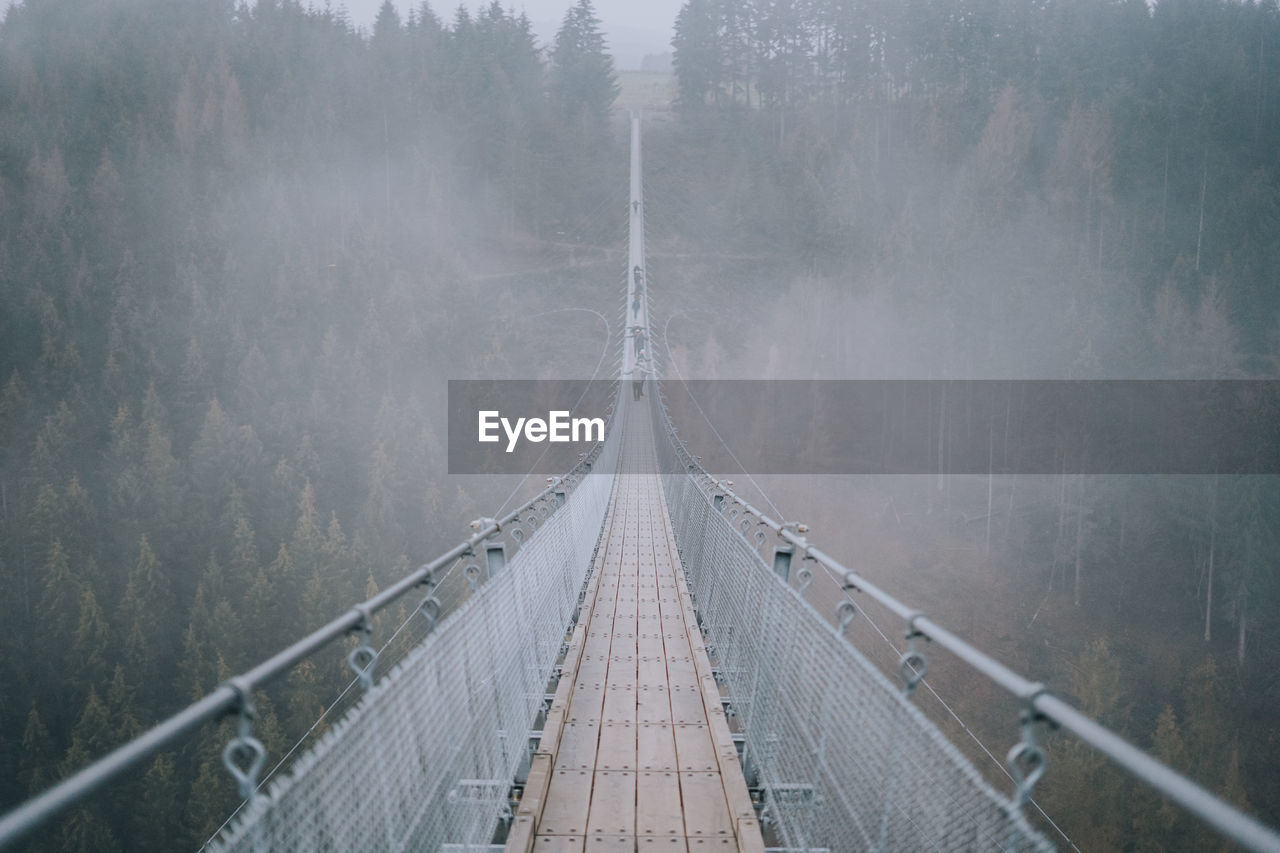 Bridge During Foggy Weather