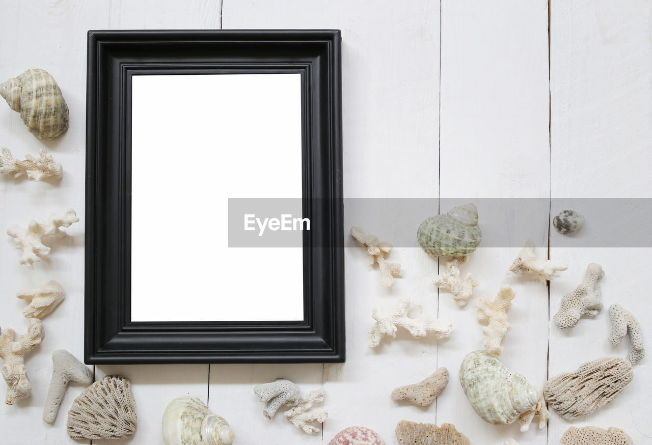 frame, picture frame, white color, no people, indoors, copy space, home interior, shape, blank, art and craft, flower, design, wall - building feature, nature, creativity, plant, representation, craft, still life, pattern