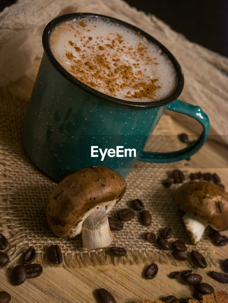 food and drink, drink, coffee, coffee - drink, mug, refreshment, coffee cup, still life, freshness, cup, table, food, indoors, no people, close-up, cappuccino, frothy drink, hot drink, high angle view, ready-to-eat, froth, non-alcoholic beverage, crockery, latte, snack