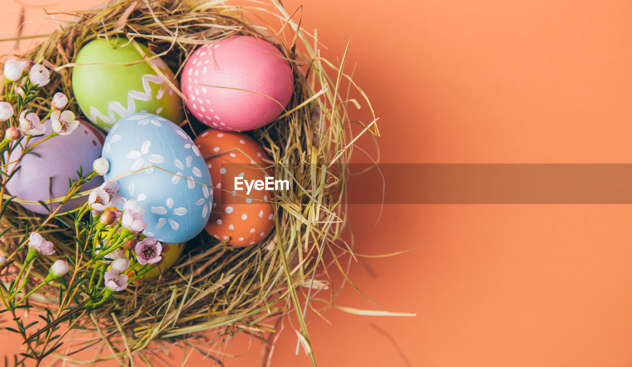 egg, easter, easter egg, holiday, celebration, art and craft, still life, indoors, no people, animal nest, food and drink, food, multi colored, close-up, decoration, nature, creativity, fragility, vulnerability