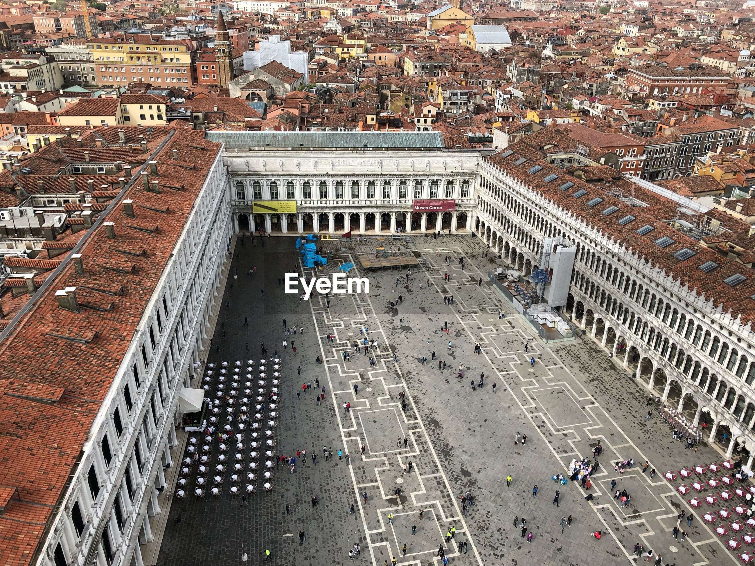 High angle view of st marks square in city