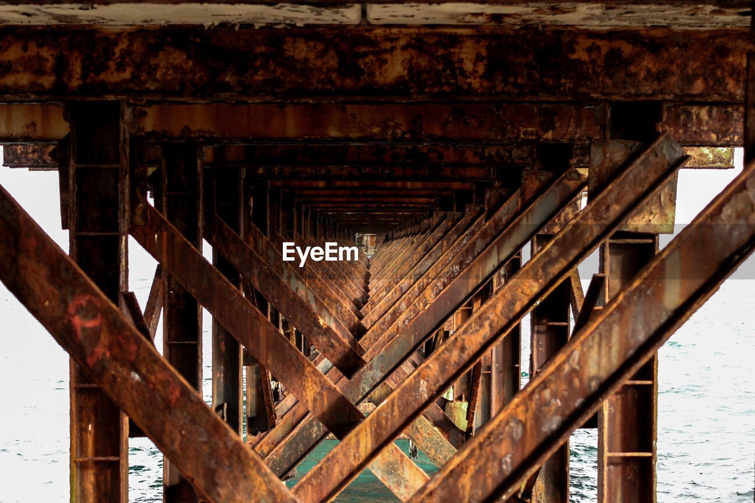 Bottom part of rusty pier
