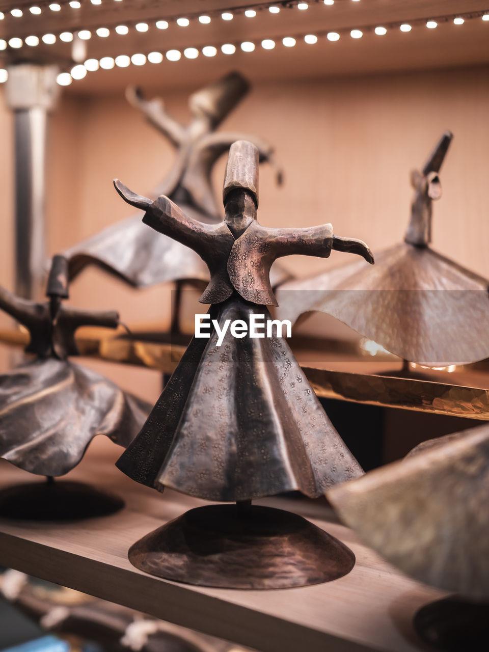 Close-up of metallic figurine