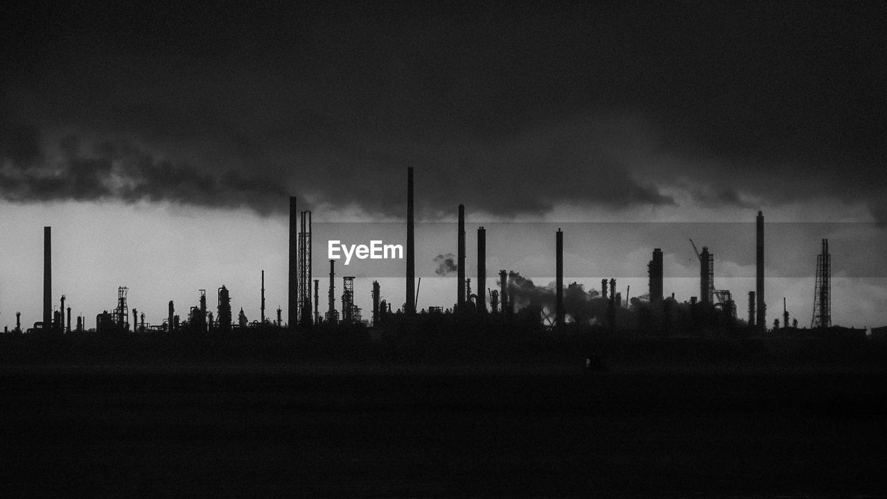 Oil Refinery Jurong Island Against Sky
