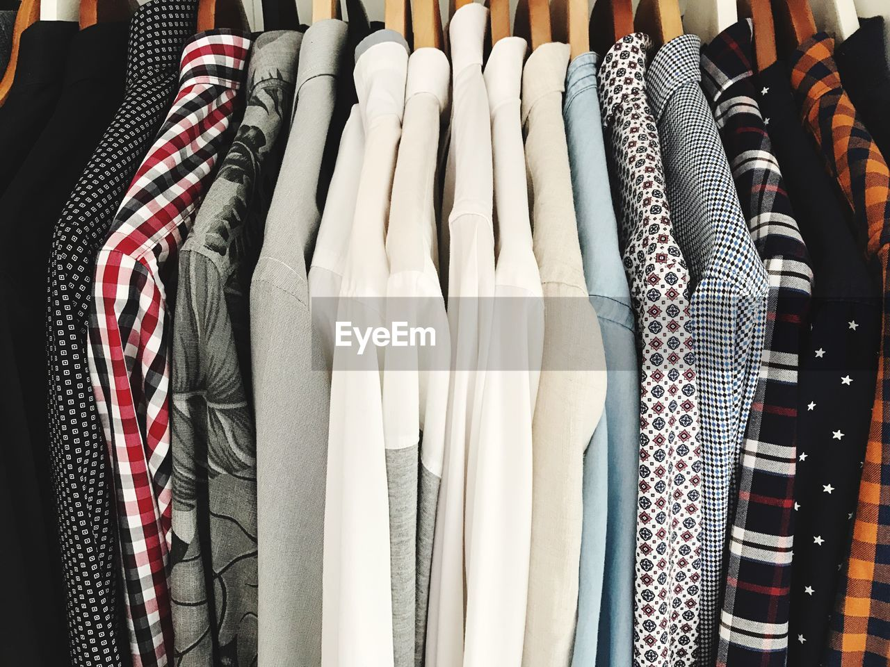 Full Frame Shot Of Clothes Hanging On Display At Store