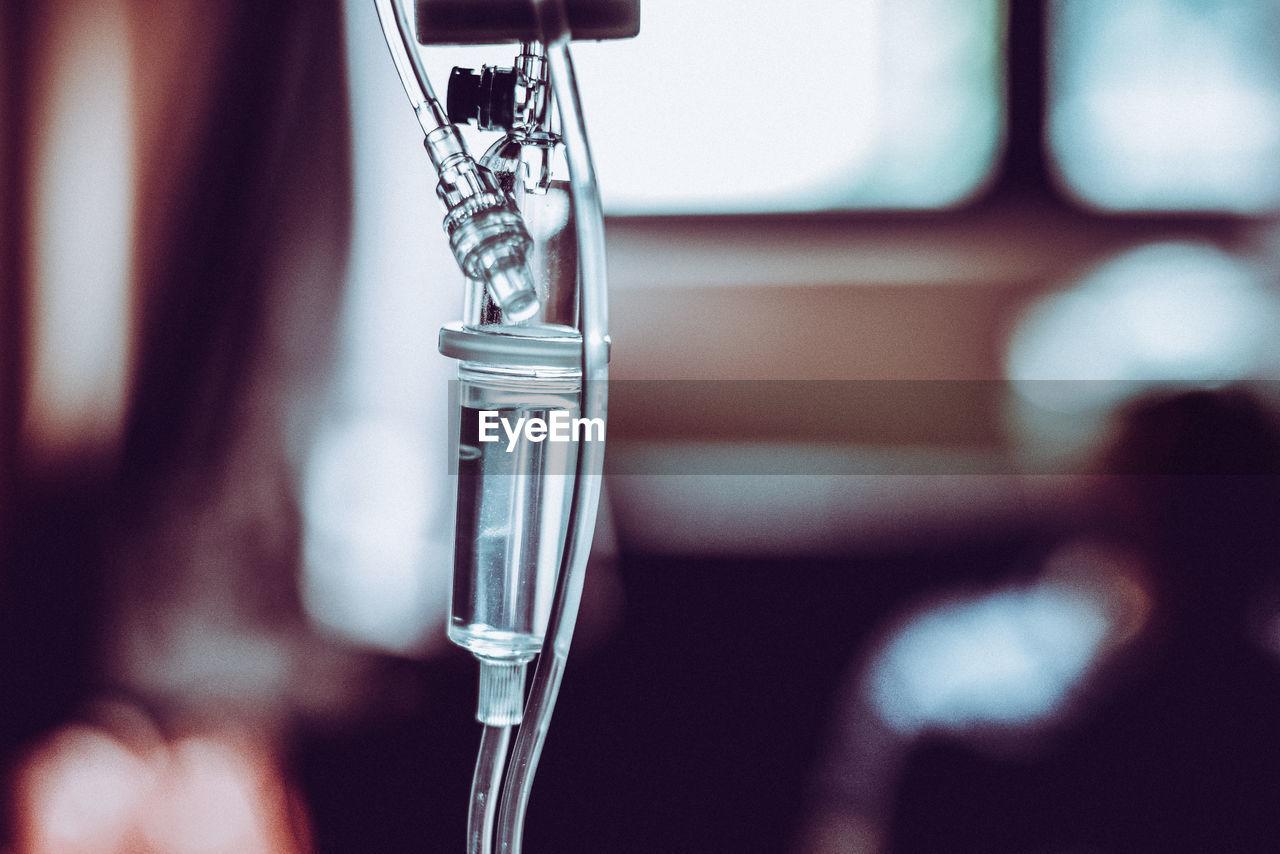 Close Up Of Iv Drip At Hospital