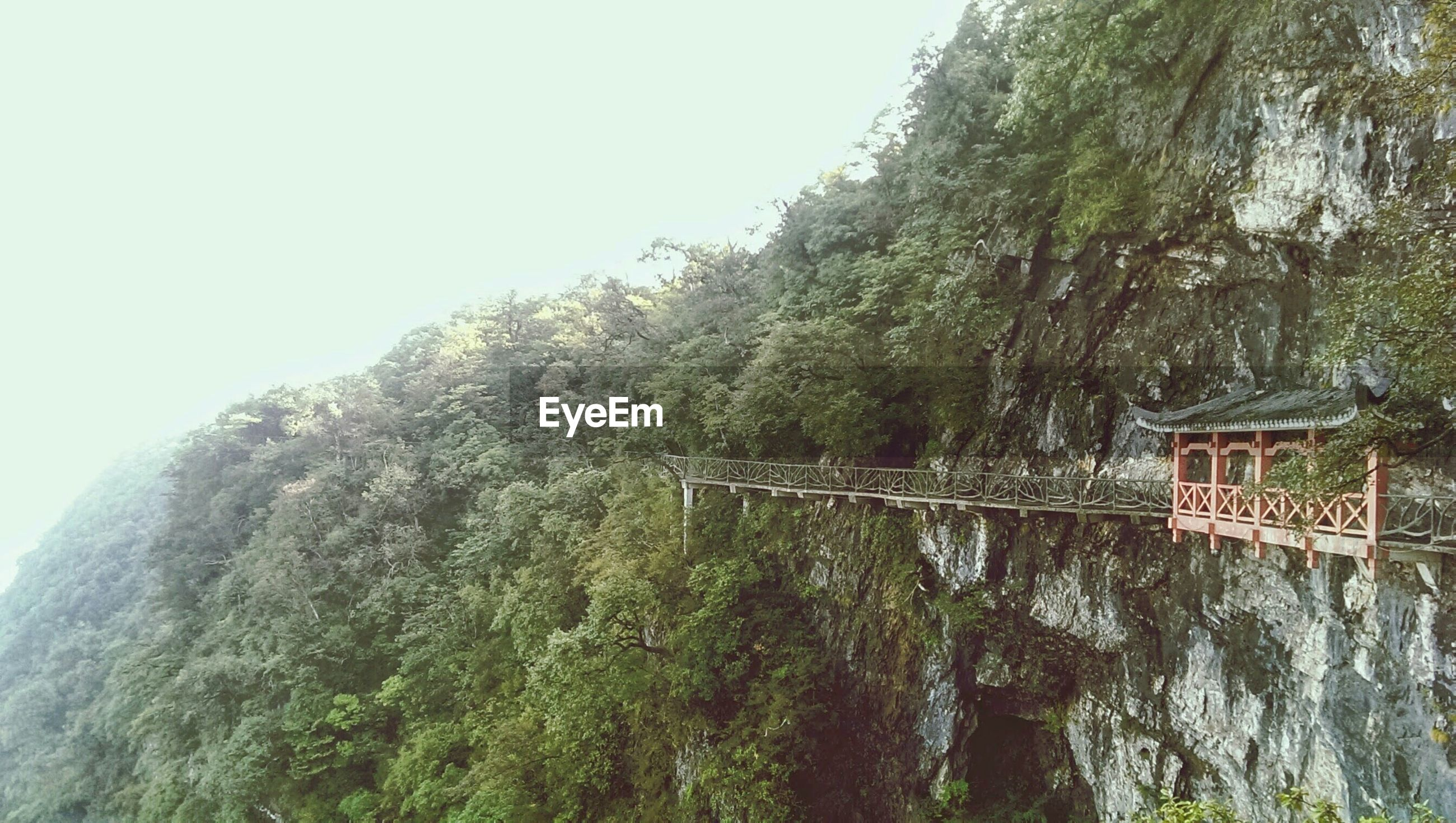 Footbridge attached to cliff face