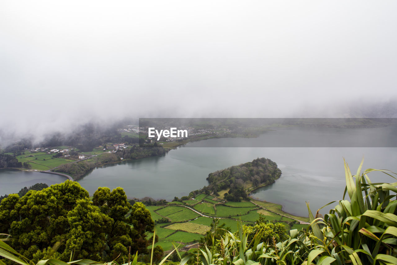 Lagoon of the seven cities in azores