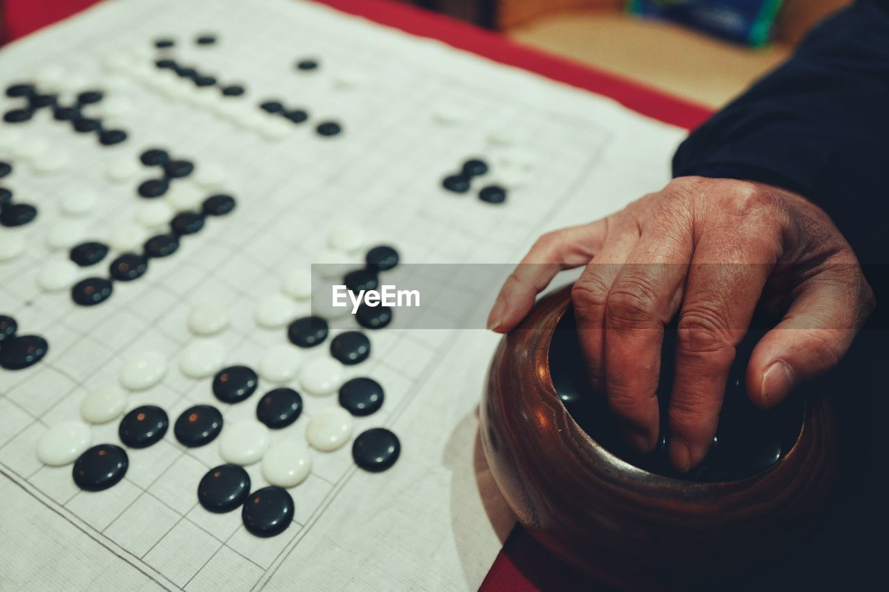 Cropped Hand Playing Board Game