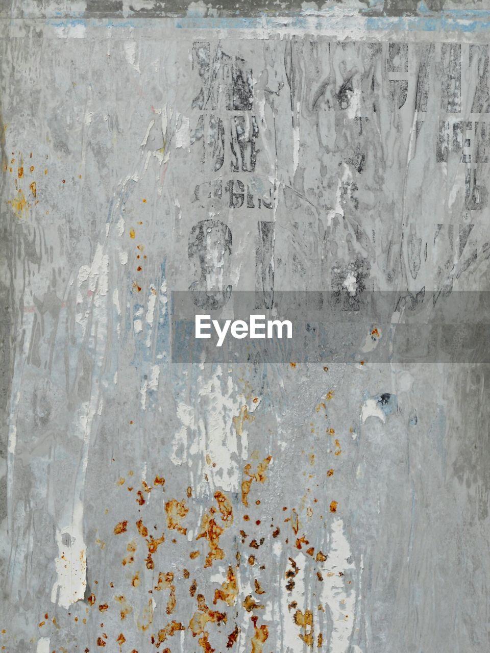 Full Frame Shot Of Rusty Gray Metal Sheet