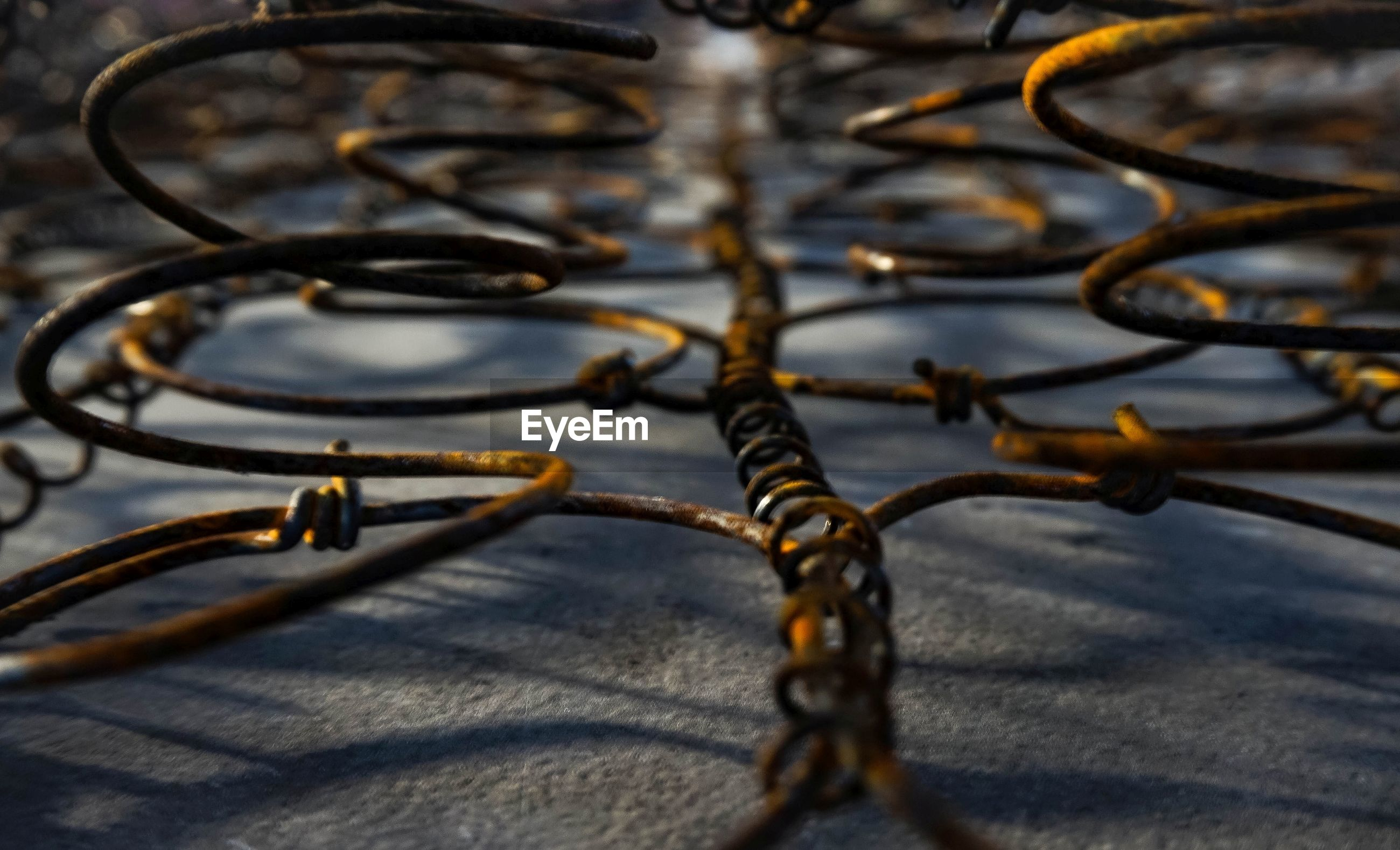 Full frame shot of rusty metal spring