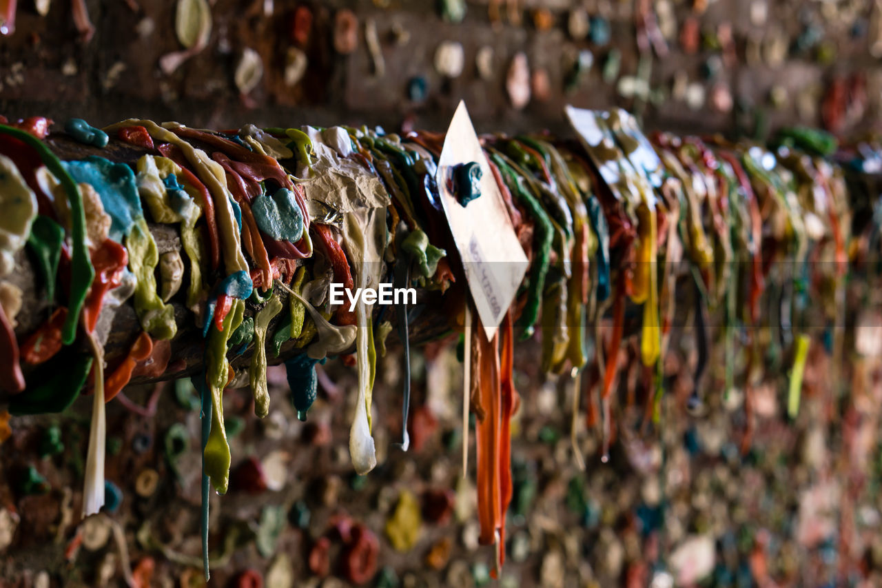 Close-up in the seattle gum wall
