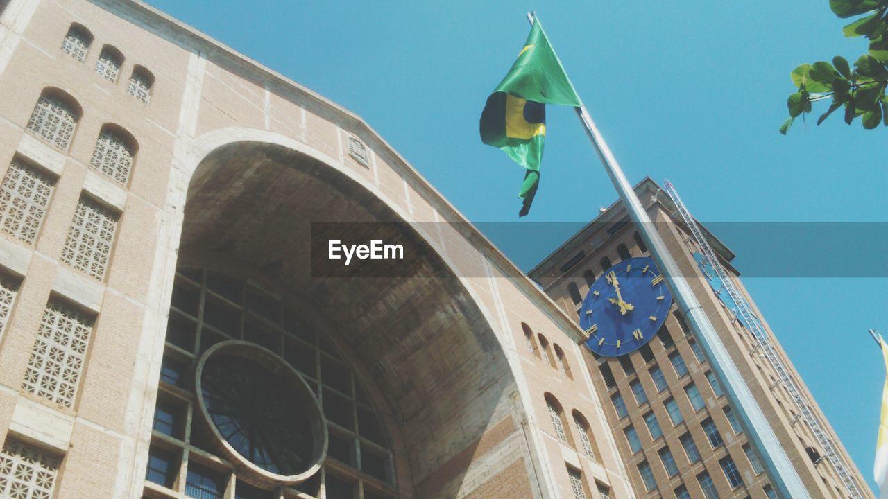 Brazilian flag by basilica of the national shrine of our lady of aparecida
