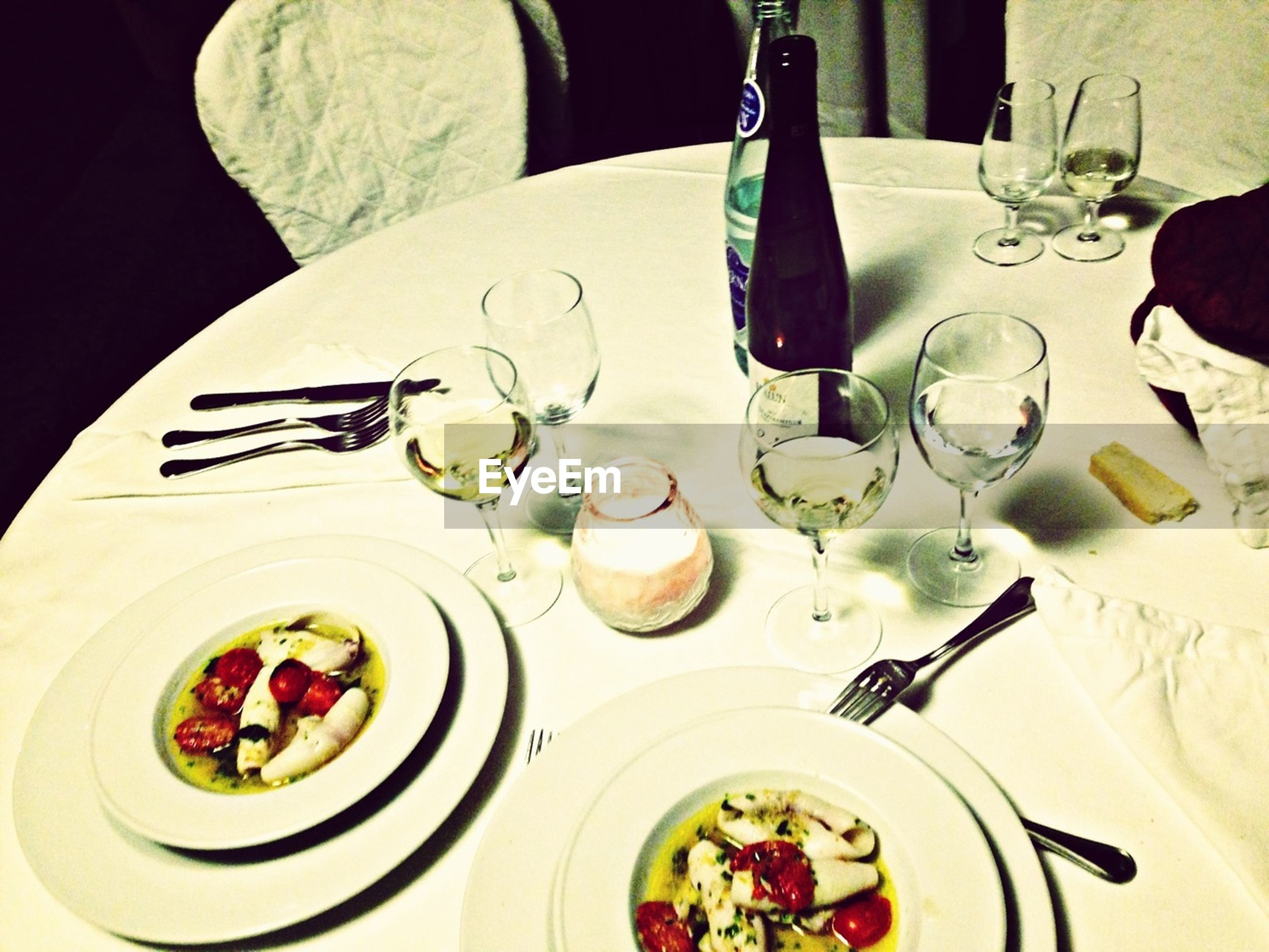 indoors, food and drink, plate, food, table, freshness, ready-to-eat, fork, high angle view, still life, serving size, bowl, spoon, healthy eating, meal, served, salad, drink, indulgence, no people
