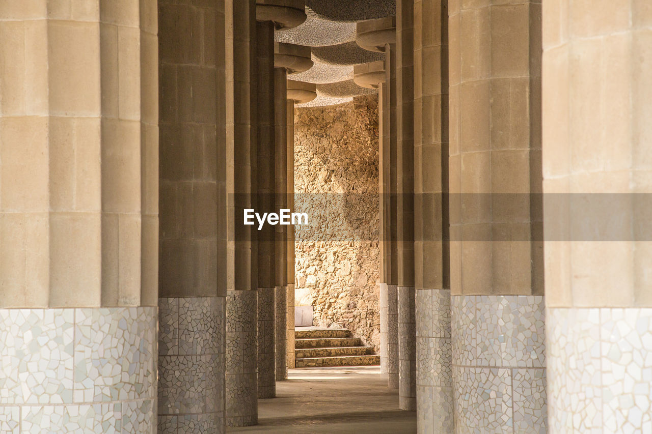 Walkway amidst columns