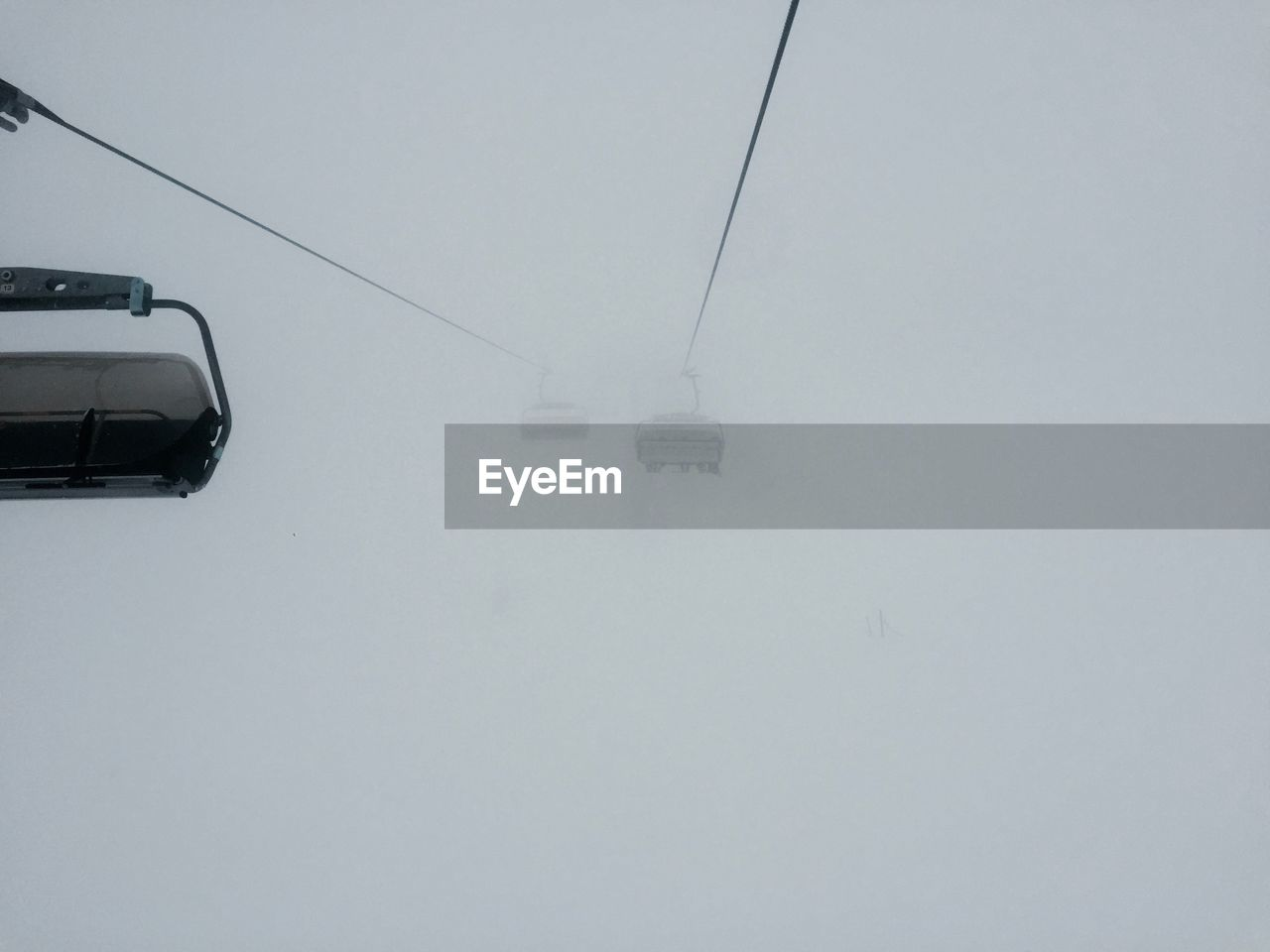 winter, cold temperature, transportation, nature, overhead cable car, snow, weather, ski lift, cable, fog, mode of transport, day, outdoors, beauty in nature, no people, scenics, sky