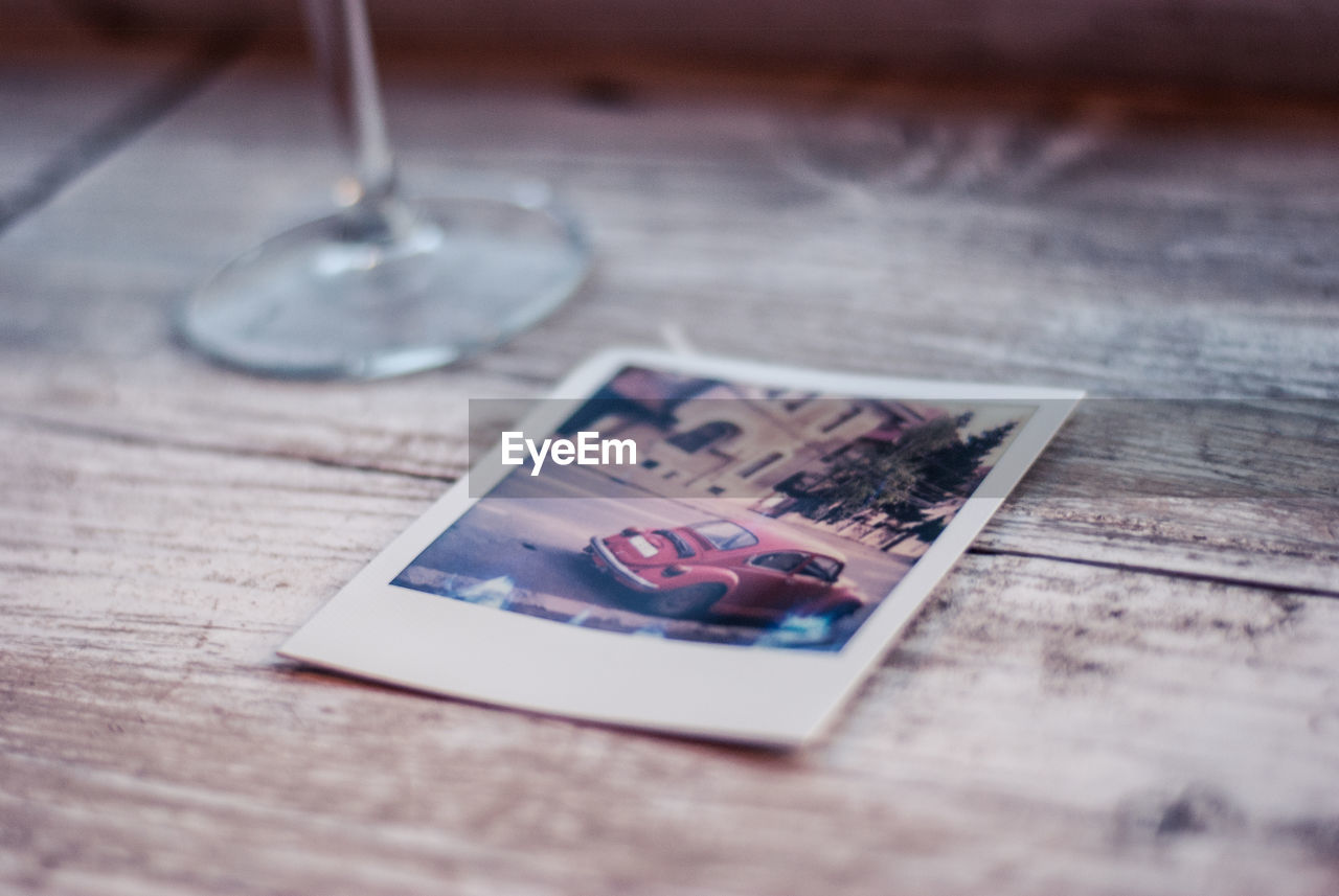 Photo On Wooden Table