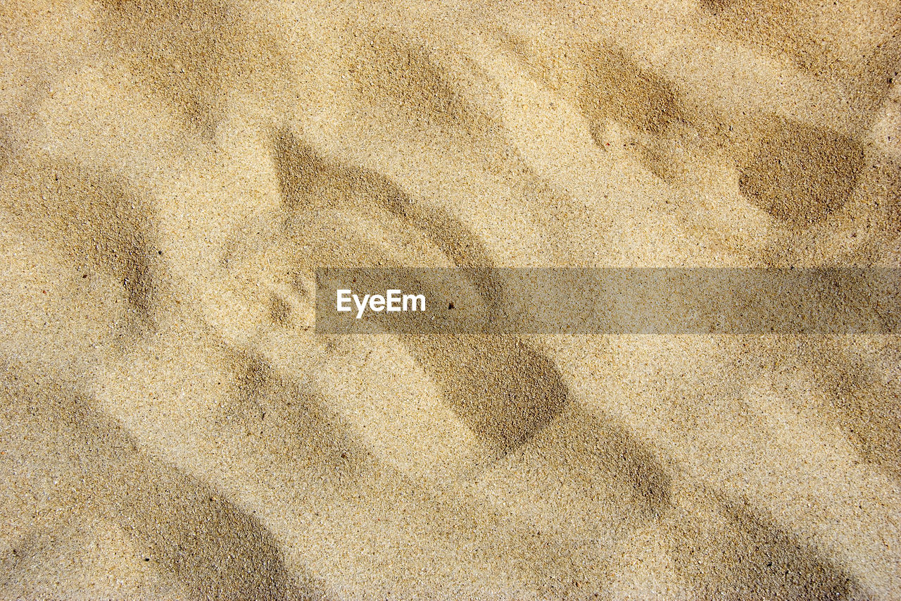 sand, beach, nature, backgrounds, high angle view, day, outdoors, full frame, brown, no people, textured, close-up