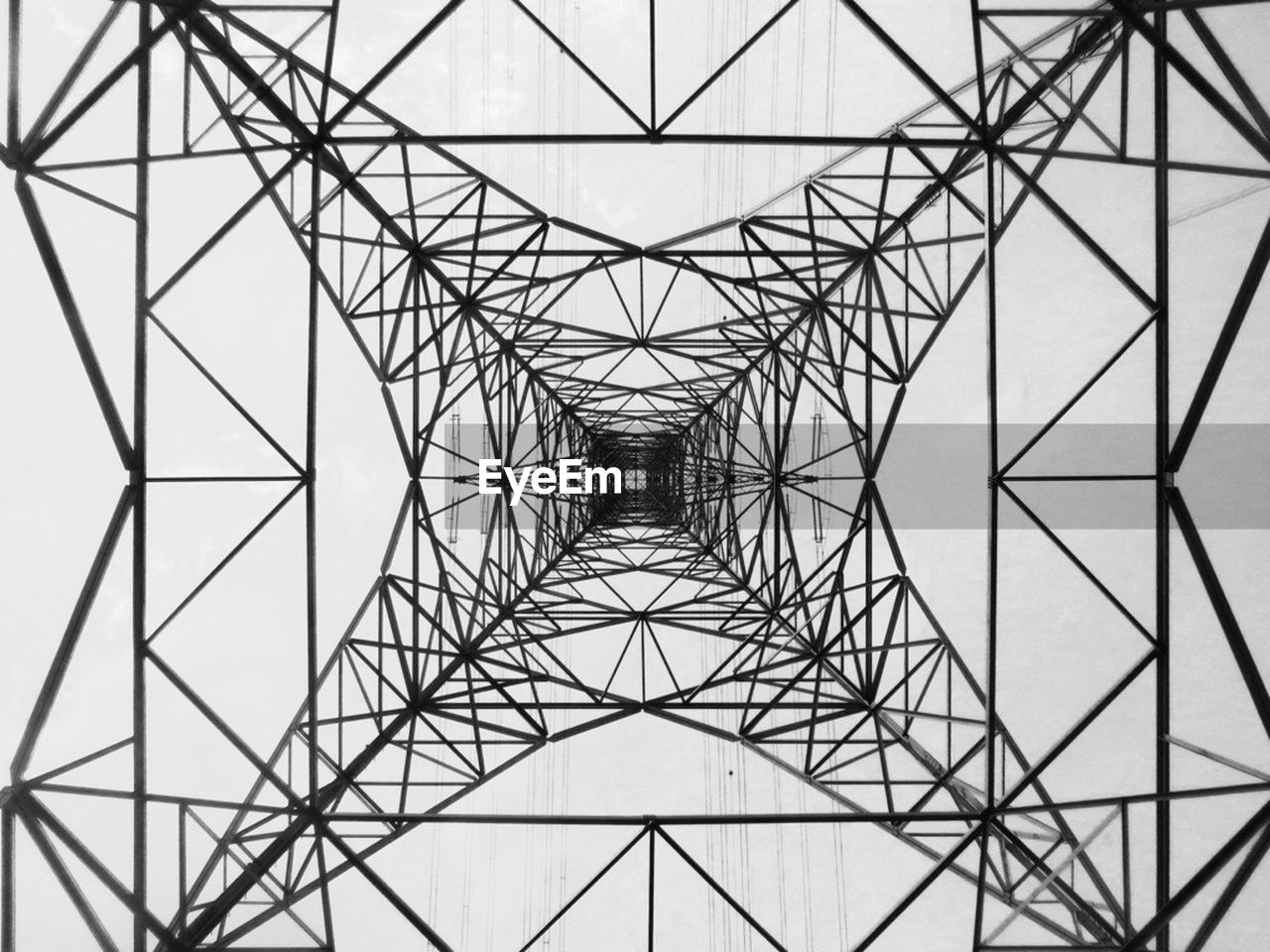 pattern, symmetry, abstract, electricity pylon, grid, connection, electricity, girder, cable, no people, full frame, steel, sky, day