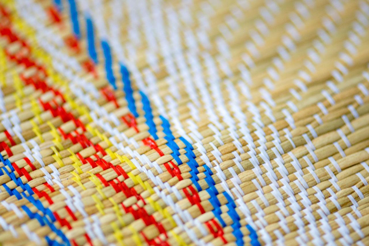 Full frame shot of multi colored wicker