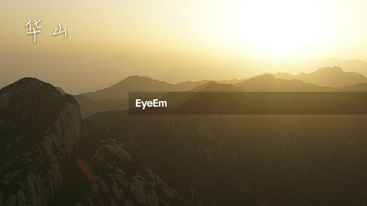 mountain, sunset, nature, beauty in nature, clear sky, no people, outdoors, scenics, mountain range, sky, day