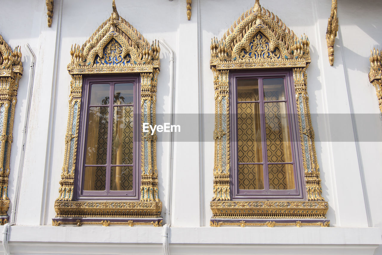 Windows Of A Temple In Thailand