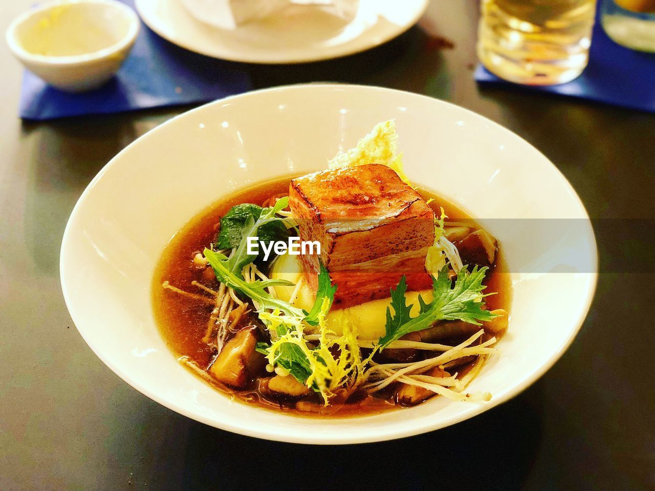 food and drink, food, freshness, ready-to-eat, healthy eating, plate, wellbeing, table, indoors, still life, serving size, no people, bowl, close-up, meal, indulgence, high angle view, vegetable, pasta, garnish, dinner, temptation, crockery, snack, serving dish