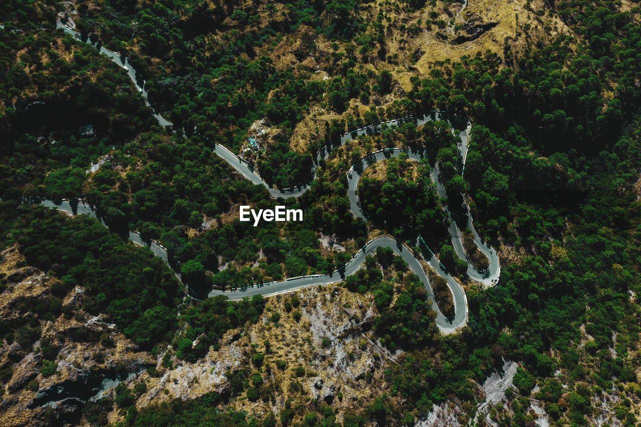The road nainital uttarakhand india