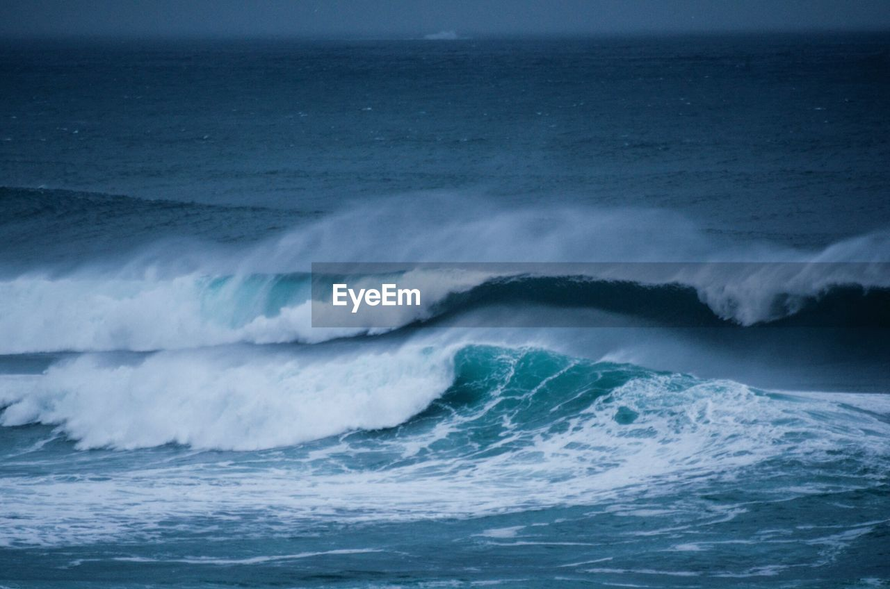 Scenic View Of Powerful Rolling Wave In Sea