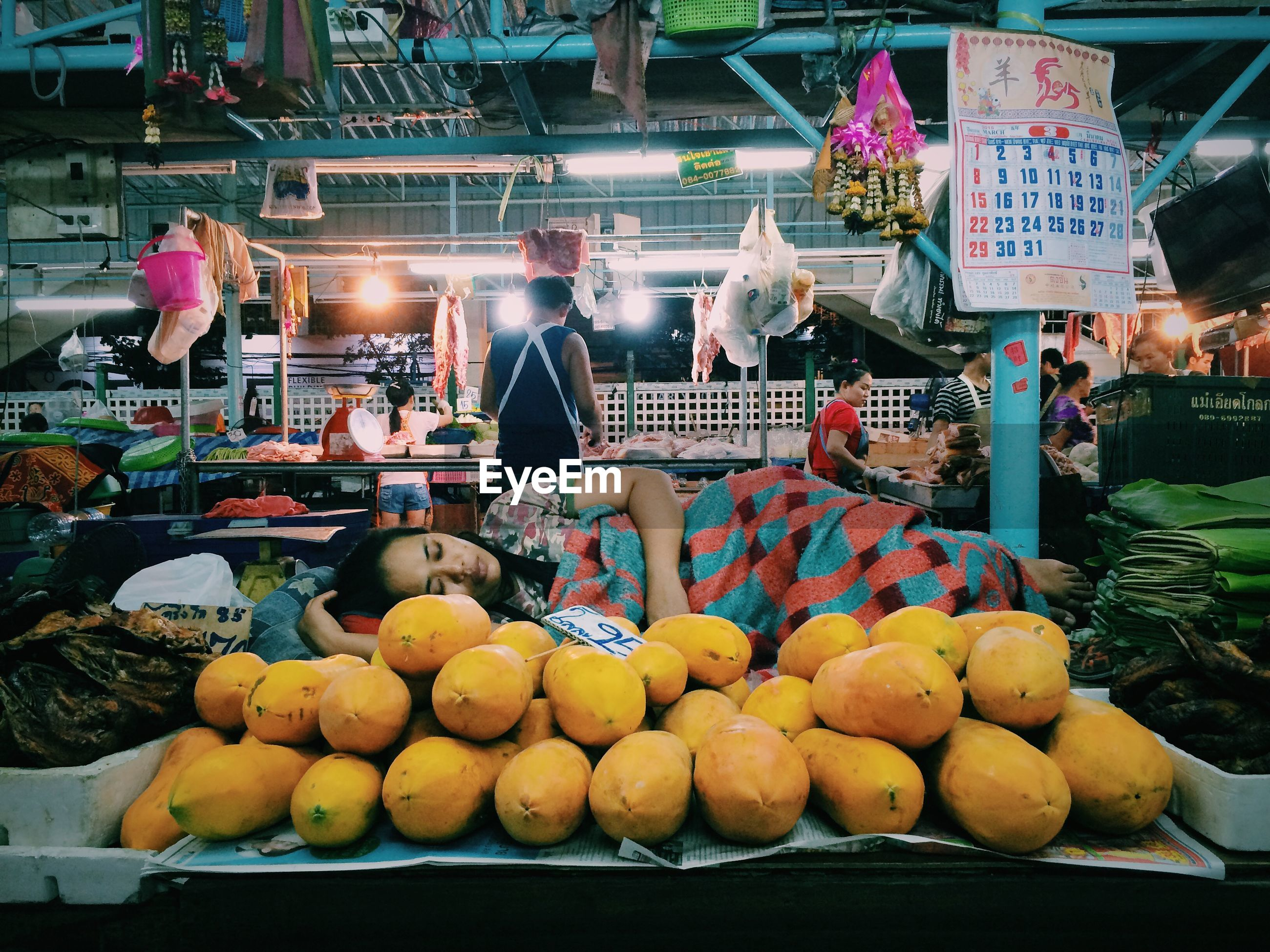 VIEW OF MARKET STALL FOR SALE