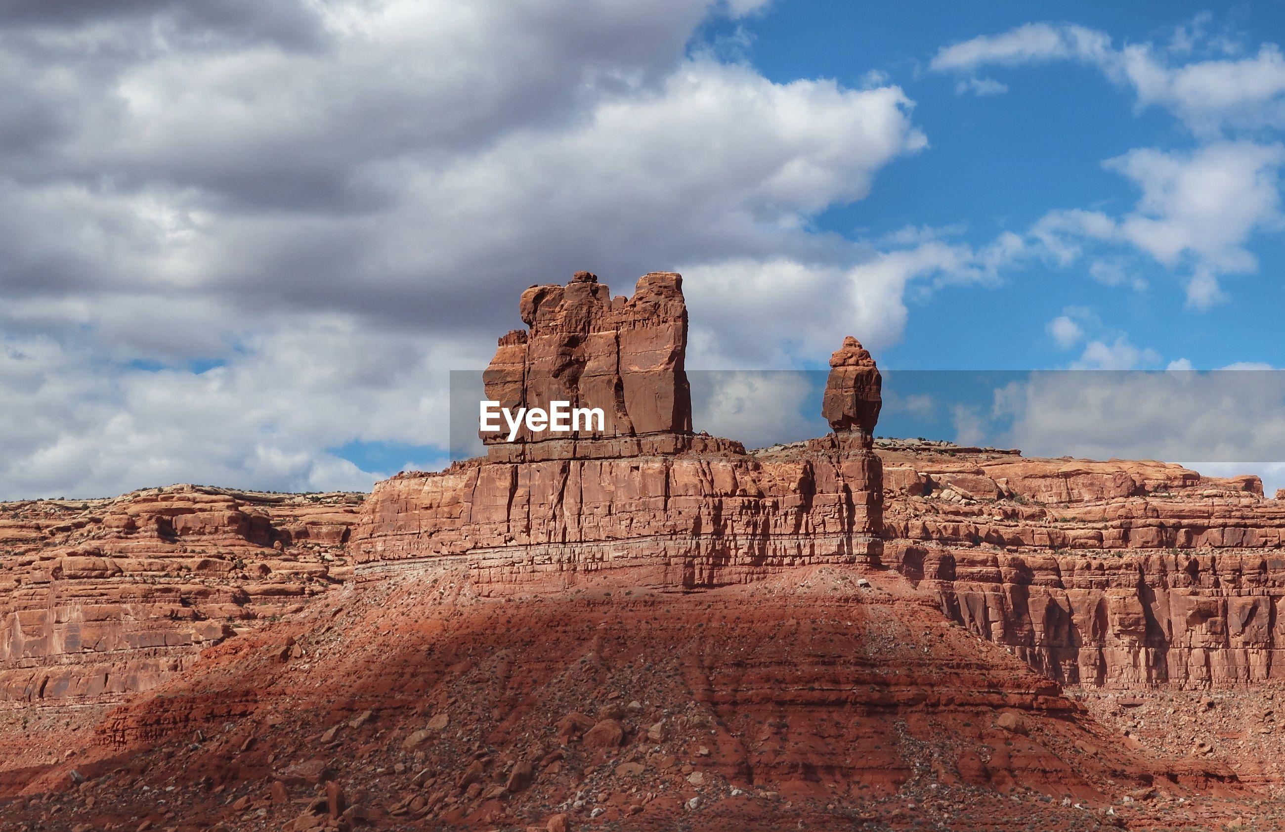 Landscape of massive multi layered colored stones in utah