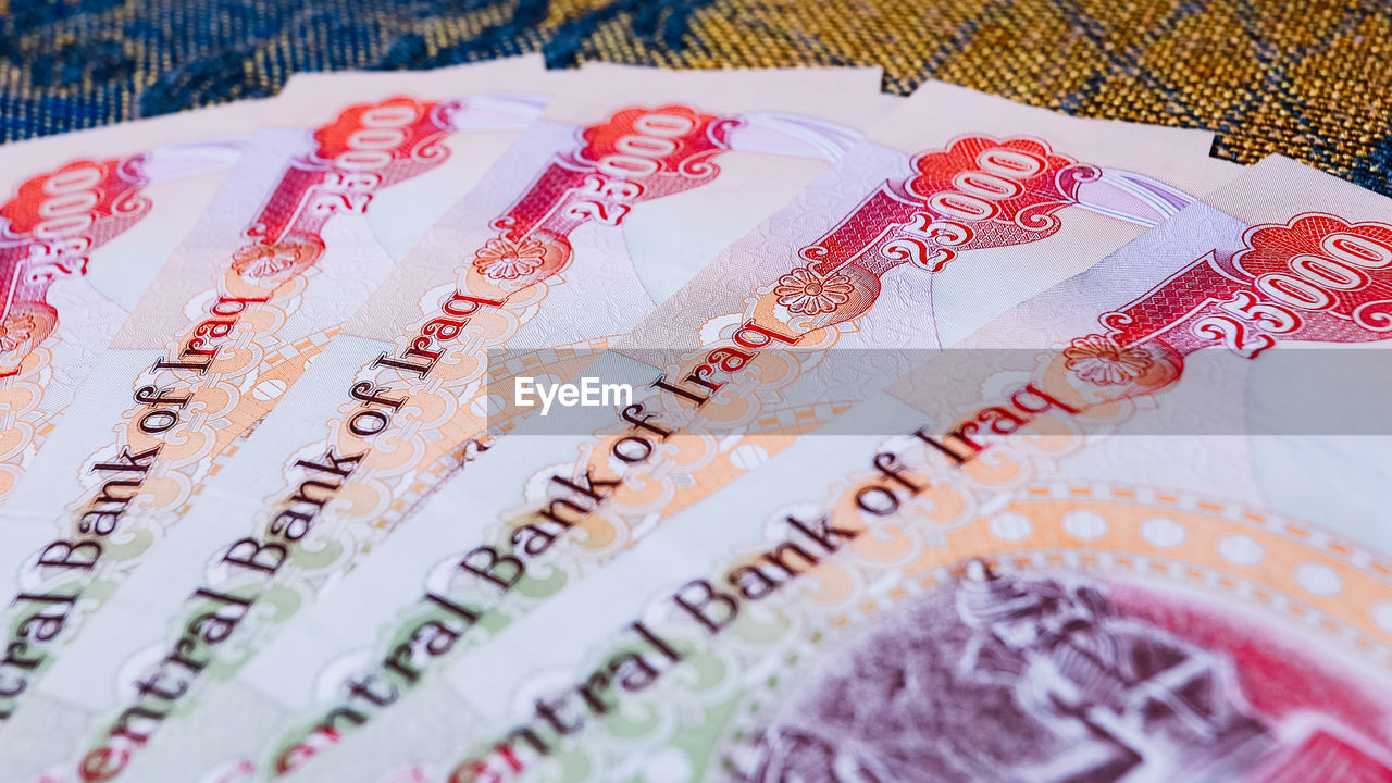 currency, wealth, close-up, no people, finance, text, business, western script, paper currency, savings, communication, still life, high angle view, indoors, pattern, selective focus, number, backgrounds, large group of objects, investment, economy