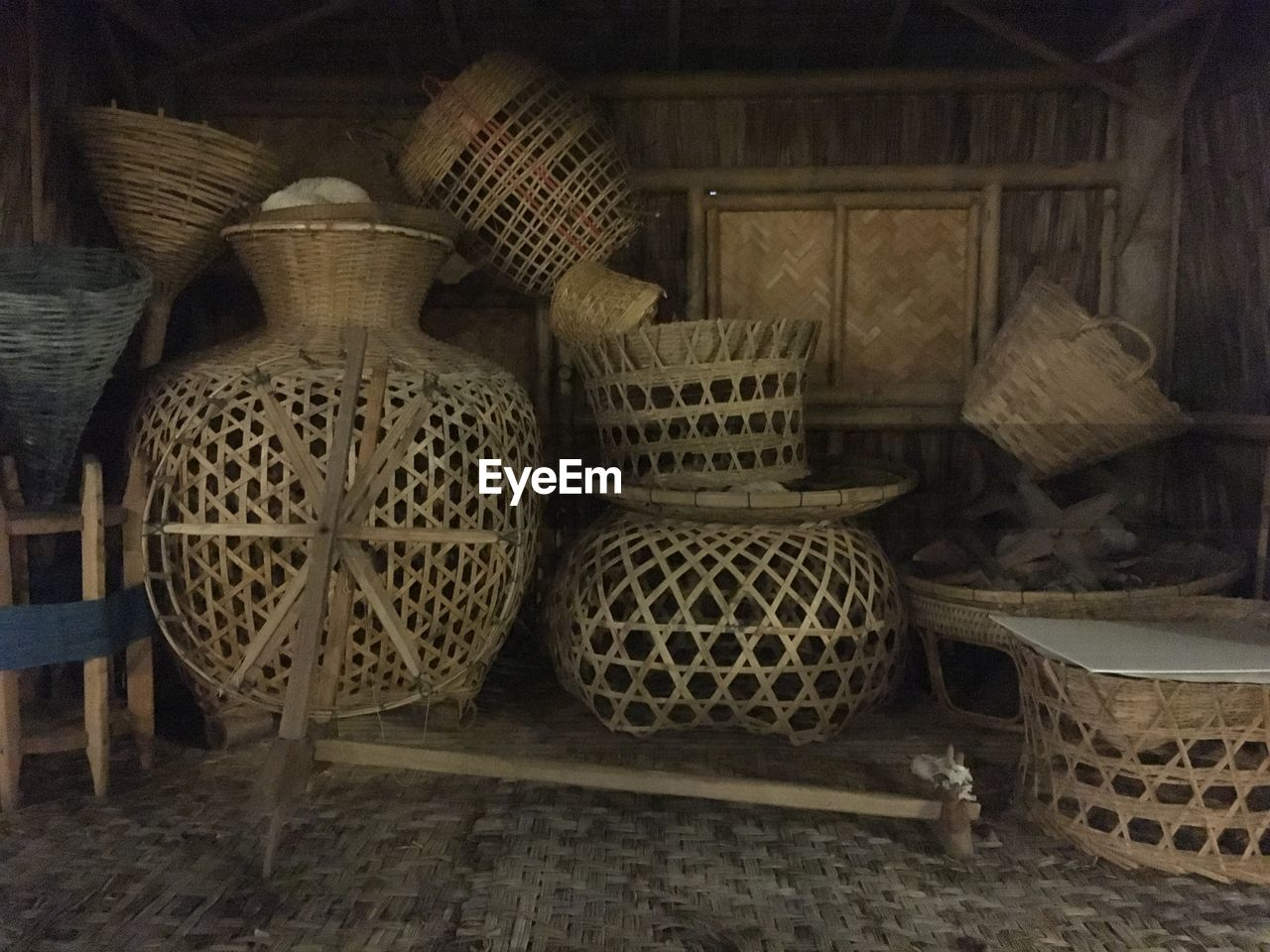 basket, indoors, container, no people, shelf, day